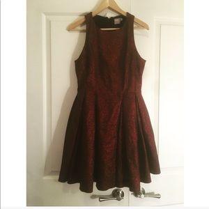 ASOS Red Glitter Dress size 12
